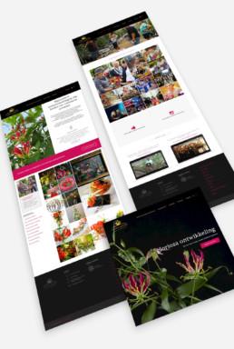Gloriosa website interface